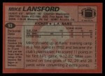 1983 Topps #93  Mike Lansford  Back Thumbnail