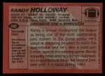 1983 Topps #101  Randy Holloway  Back Thumbnail