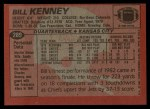 1983 Topps #289  Bill Kenney  Back Thumbnail