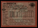 1983 Topps #233  Jim Breech  Back Thumbnail