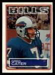 1983 Topps #222  Greg Cater  Front Thumbnail
