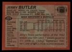 1983 Topps #221  Jerry Butler  Back Thumbnail