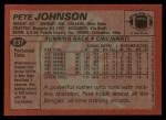 1983 Topps #237  Pete Johnson  Back Thumbnail