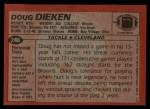 1983 Topps #248  Doug Dieken  Back Thumbnail