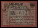 1983 Topps #327  Rich Camarillo  Back Thumbnail