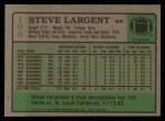 1984 Topps #196  Steve Largent  Back Thumbnail