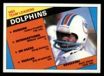 1984 Topps #116   Dolphins Leaders Front Thumbnail