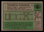 1984 Topps #282  George Farmer   Back Thumbnail