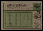 1984 Topps #275  Jan Stenerud  Back Thumbnail