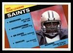 1984 Topps #299   Saints Leaders Front Thumbnail