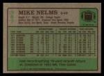 1984 Topps #387  Mike Nelms  Back Thumbnail