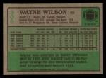1984 Topps #309  Wayne Wilson  Back Thumbnail