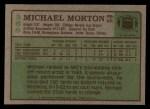 1984 Topps #368  Michael Morton  Back Thumbnail