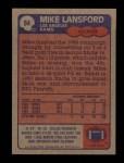 1985 Topps #84  Mike Lansford  Back Thumbnail