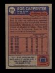 1985 Topps #113  Rob Carpenter  Back Thumbnail