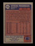 1985 Topps #203  Steve Freeman  Back Thumbnail