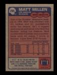 1985 Topps #295  Matt Millen  Back Thumbnail
