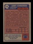 1985 Topps #218  Larry Kinnebrew  Back Thumbnail