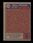 1985 Topps #296  Bill Pickel  Back Thumbnail