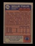 1985 Topps #256  Willie Tullis  Back Thumbnail
