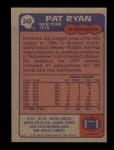 1985 Topps #348  Pat Ryan  Back Thumbnail