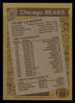 1986 Topps #9   Bears Leaders Back Thumbnail