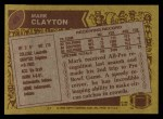 1986 Topps #49  Mark Clayton  Back Thumbnail