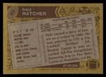 1986 Topps #93  Dale Hatcher  Back Thumbnail