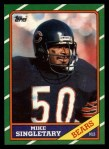 1986 Topps #24  Mike Singletary  Front Thumbnail