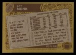 1986 Topps #175  Art Monk  Back Thumbnail