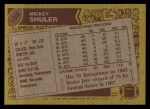 1986 Topps #102  Mickey Shuler  Back Thumbnail