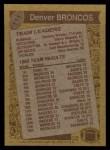 1986 Topps #111   Broncos Leaders Back Thumbnail