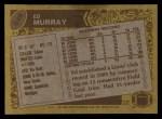1986 Topps #249  Ed Murray  Back Thumbnail