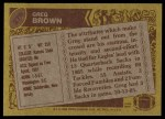 1986 Topps #276  Greg Brown  Back Thumbnail