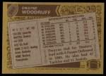1986 Topps #290  Dwayne Woodruff  Back Thumbnail