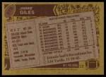 1986 Topps #378  Jimmie Giles  Back Thumbnail