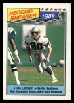 1987 Topps #5   -  Steve Largent Record Breaker Front Thumbnail