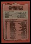 1987 Topps #198   Vikings Leaders Back Thumbnail
