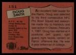 1987 Topps #151  Doug Smith  Back Thumbnail