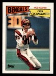 1987 Topps #188  Cris Collinsworth  Front Thumbnail