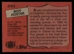 1987 Topps #241  Roy Foster  Back Thumbnail