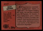 1987 Topps #257  Rick Bryan  Back Thumbnail