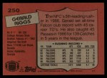 1987 Topps #250  Gerald Riggs  Back Thumbnail