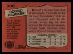 1987 Topps #390  Donald Igwebuike  Back Thumbnail