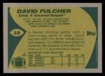 1989 Topps #33  David Fulcher  Back Thumbnail