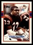 1989 Topps #33  David Fulcher  Front Thumbnail