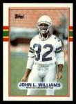 1989 Topps #190  John L. Williams  Front Thumbnail