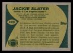 1989 Topps #135  Jackie Slater  Back Thumbnail