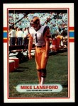 1989 Topps #128  Mike Lansford  Front Thumbnail