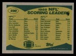 1989 Topps #220   Scoring Leaders Back Thumbnail